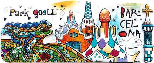 Weekino Parque Güell Barcelona España Imán de Nevera 3D Resina de la Ciudad de Viaje Recuerdo Colección de Regalo Fuerte Etiqueta Engomada refrigerador: Amazon.es: Hogar
