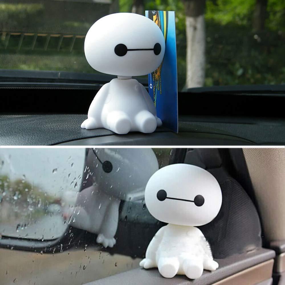 DeemoShop Cartoon Plastic Baymax Robot Shaking Head Figure Car Ornaments Auto Interior Decorations Big Hero Doll Toys Ornament Accessories