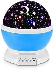 Redlemon Lámpara Proyector de Estrellas Giratorias para Habitación de Niños y Bebés con Luz LED de 7 Colores y 3 Modos de Iluminación. Star Master