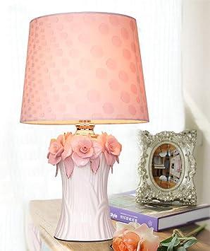 LNDDP Lámpara Mesa cerámica Color Rosa cálido Lámpara Escritorio ...