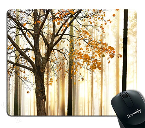 Smooffly Mouse Pad Fall Trees Print Mom Gift Ideas Rectangle