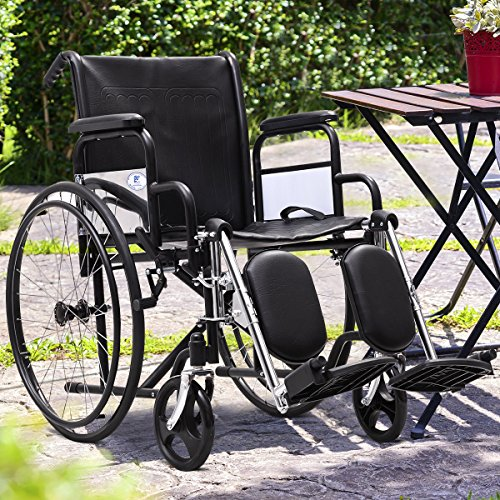 Giantex-Manual-Folding-Medical-Transport-Wheelchair-w-Footrest-Handbrakes-Lightweight-Wheelchairs-Elevating-Leg-Rests