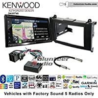Volunteer Audio Kenwood DNX574S Double Din Radio Install Kit with GPS Navigation Apple CarPlay Android Auto Fits 2007-2009 Dodge Sprinter 2010-2012 Mercedes-Benz Sprinter