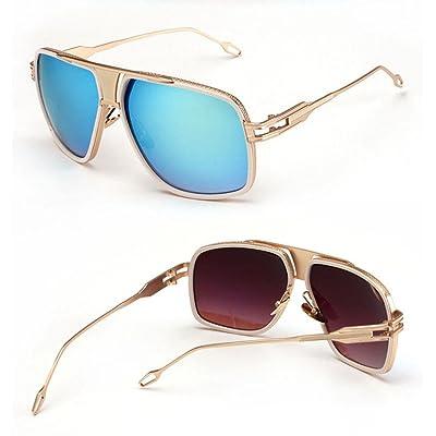 Alger Lunettes de soleil en métal Frame Fashion Street battre Vintage Style Polarized UV400 conduite lunettes de voyage , D