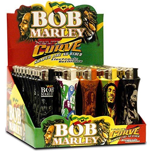 Bob Marley Licensed Curve Lighters - 50 Pack