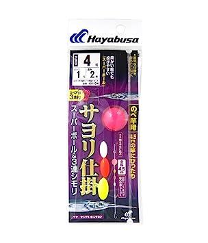 ハヤブサ(Hayabusa)サヨリ仕掛スーパーボール&3連シモリ(のべ竿用)4-1HA134の画像