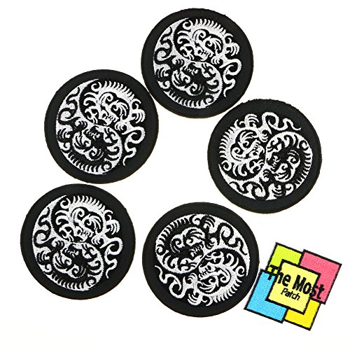 Lot of 6 (5+1) Dragon Yin Yang Infinity Embroidered Iron / Sew On (Bike Life Tv Halloween)