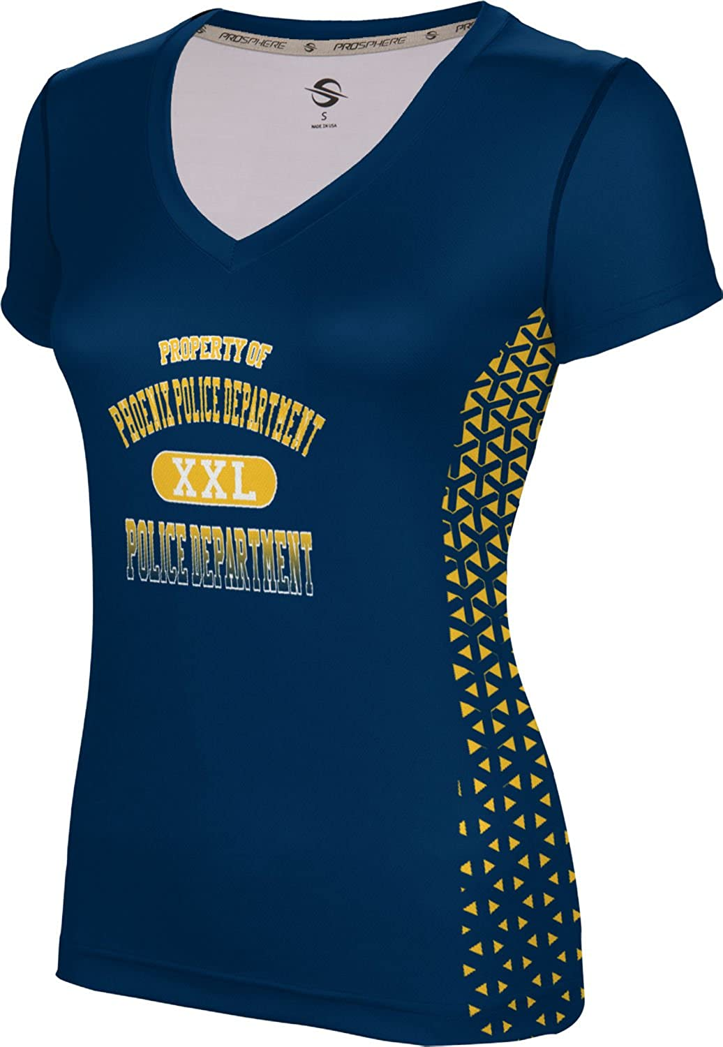 ProSphere Women's Phoenix Police Department Geometric SL V-Neck Training Tee