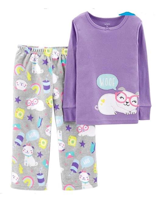 1263de0721dd Carter s Toddler Girl s 2-Piece Dog Snug Fit Cotton   Fleece Pajamas ...