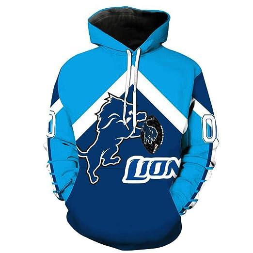 C&NN Uniforme Hombres Detroit Lions Equipo de fútbol de la NFL ...