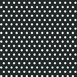 "Amscan Classic Polka Dot Jumbo Gift Wrap, Black, 16' x 30"""
