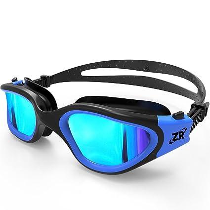 Zionor Swimming Goggles, G1 Polarized Swim Goggles with Mirror/Smoke Lens  UV Protection Watertight
