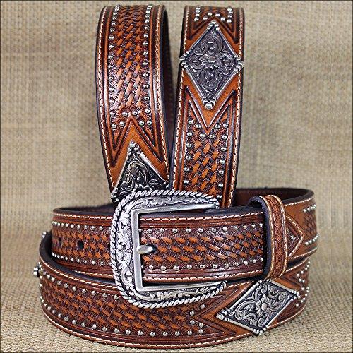 Diamond Concho Belt - 4