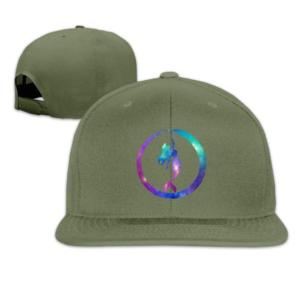 Hhaj Galaxy Mermaid Snapback Unisex Adjustable Flat Bill Visor Baseball Cap