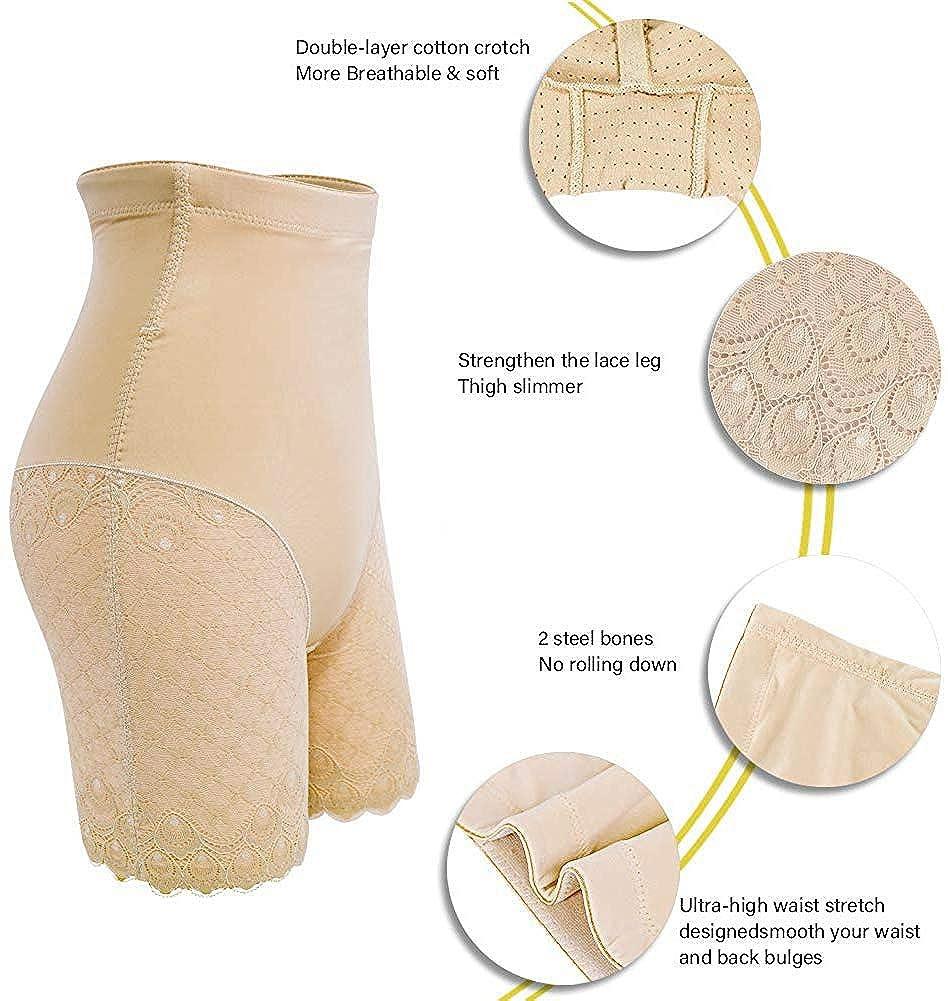 Ceestyle Pizzo Contenitiva Vita Alta Mutande Contenitive Pantaloncini Thong Shapewear Dimagrante Modellante Guaina Intimo da Donna