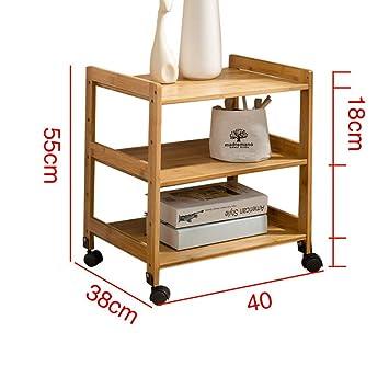 CLEAVE WAVES Sofá de bambú de 3 Niveles Mesa Auxiliar con ...