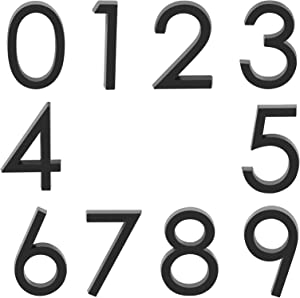 Self Adhesive Mailbox Numbers, Door Address Number Stickers for Office Room, Raised 3D Effect, Chrome Plated (2.36