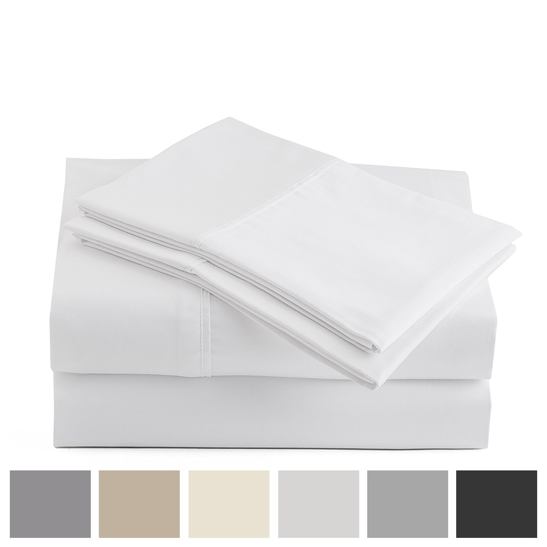 Peru Pima - 415 Thread Count - 100% Peruvian Pima Cotton - Percale - Bed Sheet Set (King, White) by Peru Pima