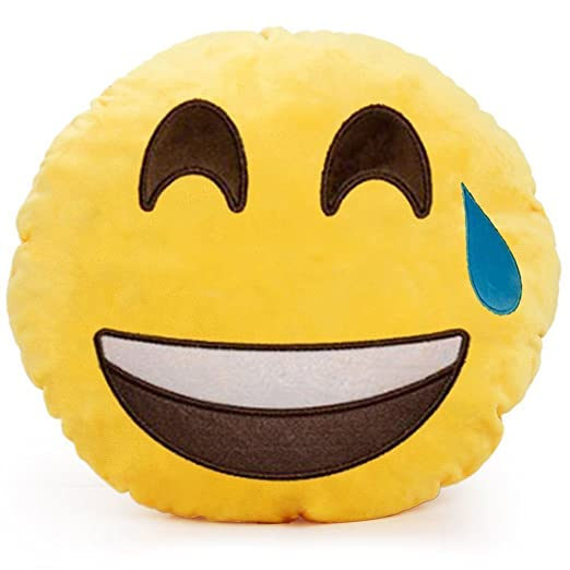 minifamily® 32 cm Cojín Emoji Smiley Emoticon cojín relleno ...
