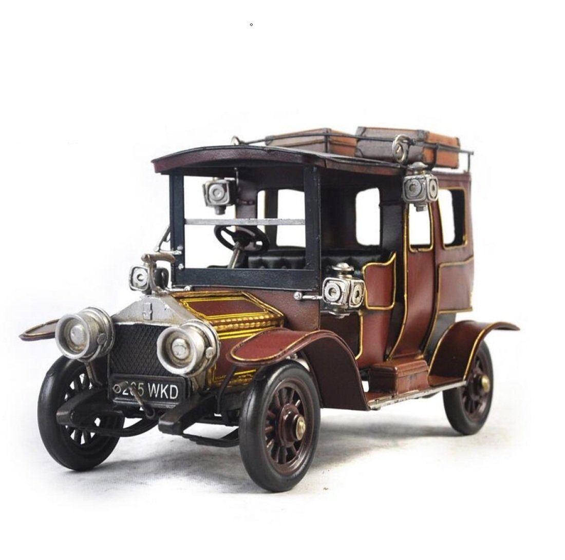 GL&G Retro manual Iron art car model Home metal Crafts Holiday gifts bar Cafe Tabletop Scenes Ornaments Collectible Vehicles Keepsakes,331517.5cm by GAOLIGUO