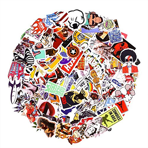 Laptop Stickers [200 pcs], Breezypals Car Stickers Motorcycle Bicycle Luggage Decal Graffiti Patches Skateboard Stickers for Laptop [No-Duplicate Sticker Pack] by BREEZYPALS (Image #5)
