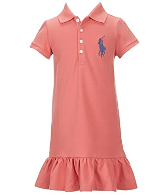 Ralph Lauren Little Girls 2T-6X Big Pony Stretch Mesh Ruffled Dress at  Amazon Women\u0027s Clothing store: