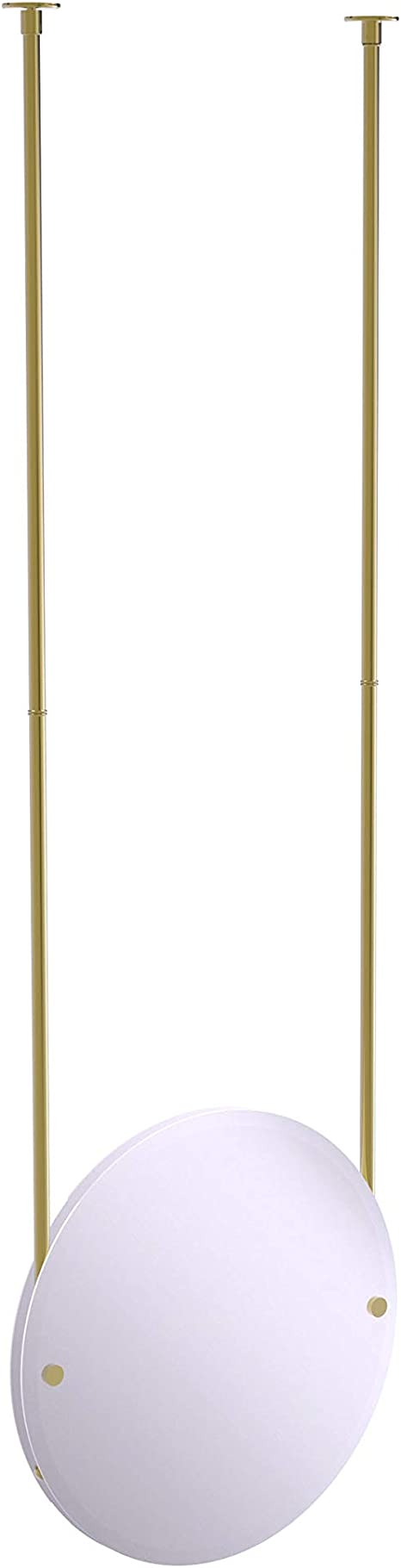 Amazon Com Allied Brass Frameless Round Beveled Edge Ceiling Hung Mirror Unlacquered Brass Home Kitchen