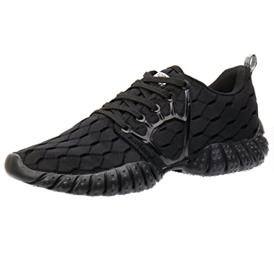 ALEADER Men's Mesh Cross-Traning Running Shoes CarbonBlack 7 D(M) US