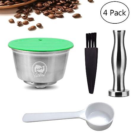 Pawaca Cápsulas Recargables para Dolce Gusto, Café Capsula Reutilizable para Nescafe Dolce Gusto Acero Inoxidable