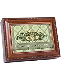 Love Loyalty Woodgrain Music Box / Jewelry Box Plays Irish Lullaby
