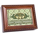 Cottage Garden Love Loyalty Woodgrain Music Box/Jewelry Box Plays Irish Lullaby