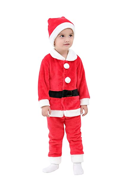 6319973d86181 May's Baby Boys Girls Christmas Long Sleeves T-Shirts Long Pants with Hat2  Pieces Sets