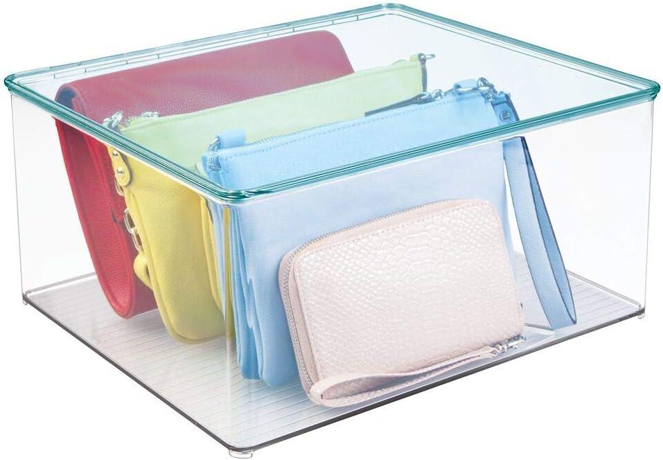 mDesign Caja organizadora con tapa – Cajas para guardar ropa y ...