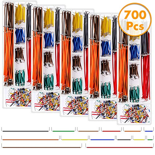 (anezus 700 Pieces Jumper Wire Kit Breadboard Wires with 14 Assorted Length for Breadboard Prototyping Solder)
