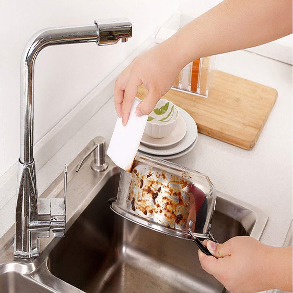 Togethor Extra Durable Eraser Sponge - Magic Cleaning Eraser Sponge in Bulk - Multi-Purpose Power Scrubber - Bathroom, Kitchen, Floor, Bathtub, Toilet, Baseboard, Wall Cleaner (White, 30 pcs)