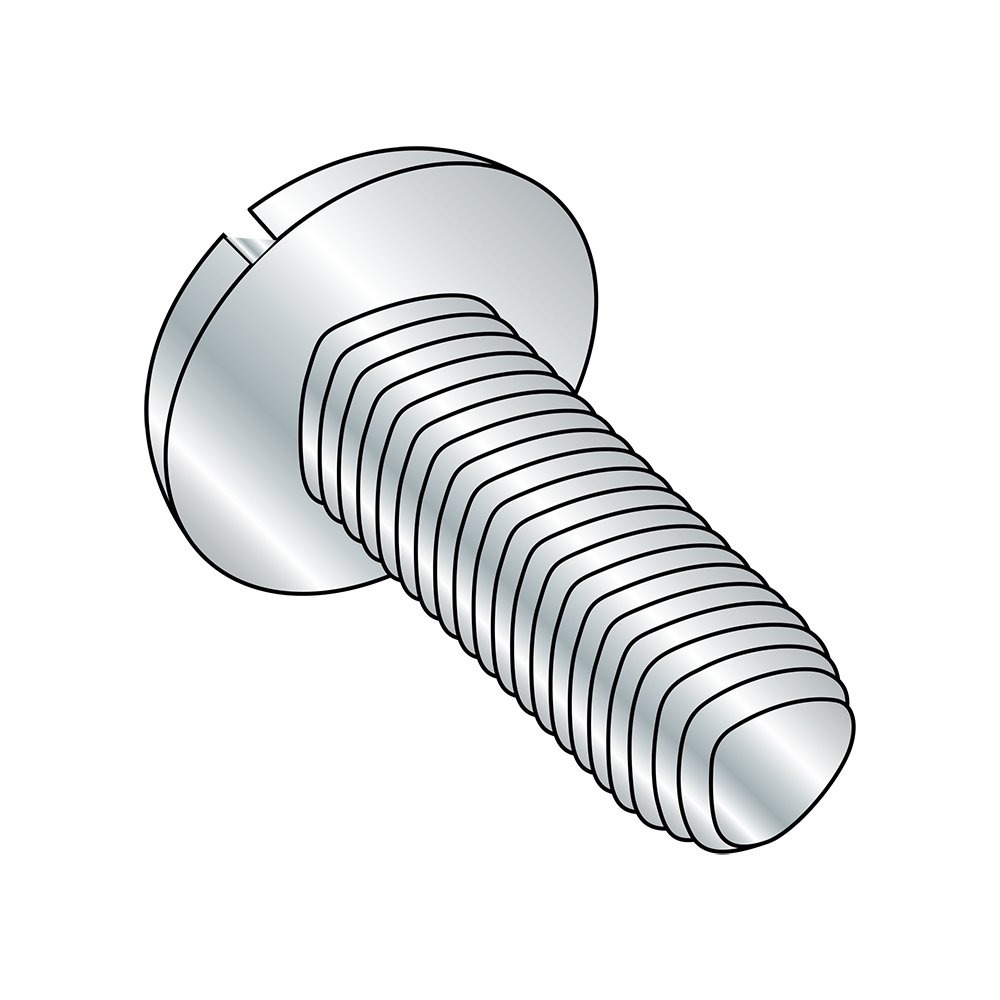 Pan Head Steel Thread Rolling Screw for Metal #6-32 Thread Size 3//8 Length Zinc Plated Star Drive Pack of 100