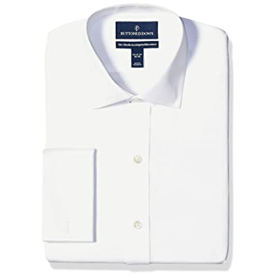 Brand - Buttoned Down Men's Xtra-Slim Fit French Cuff Dress Shirt, Supima Cotton Non-Iron, Spread-Collar: Clothing