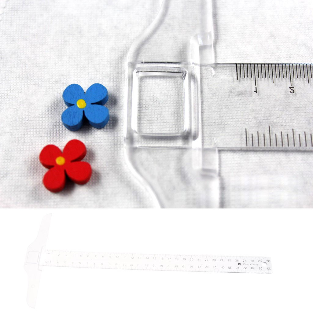 huanban072 30cm 12 T Square Ruler Plastic Metric T Square Double Side Ruler Tool Measurement Measuring