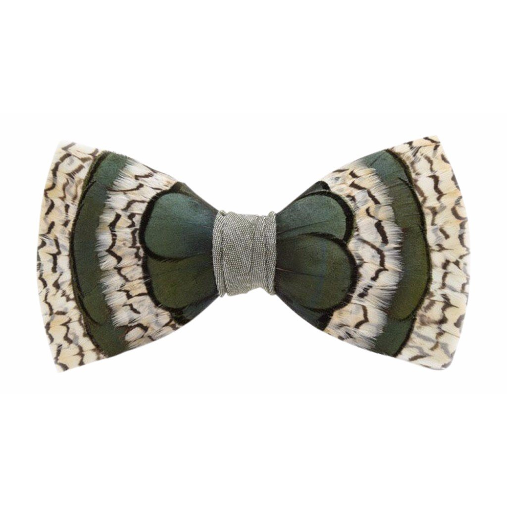 Brackish Peck Feather Bow Tie