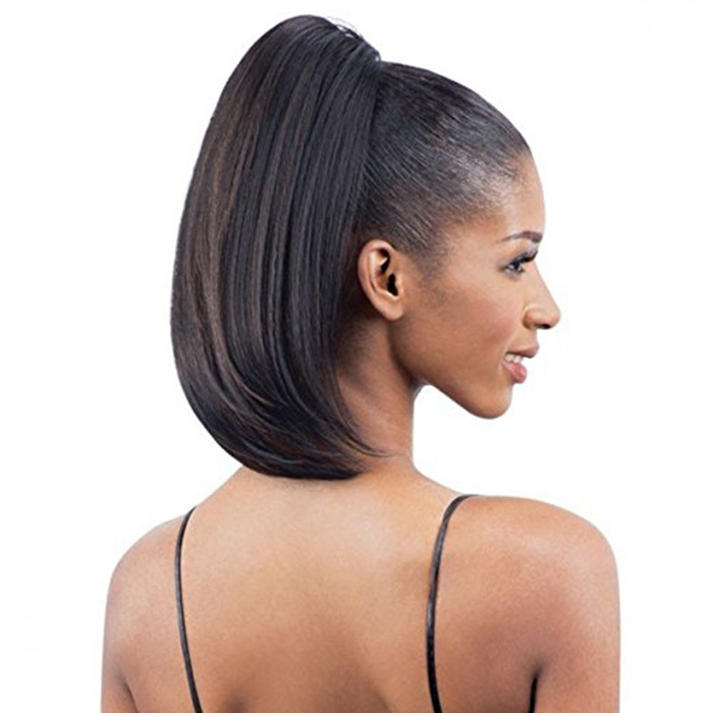 Well Wreapped Wrap Drawstring 100 Human Hair Ponytail Extensions