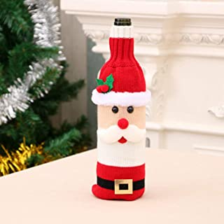 Sacchetto della Bottiglia del Vino Rosso di Natale Insieme Superiore della Bottiglia di Vino Decorativo del Cuore dell'albero di Natale Natale Decorazioni Harlls
