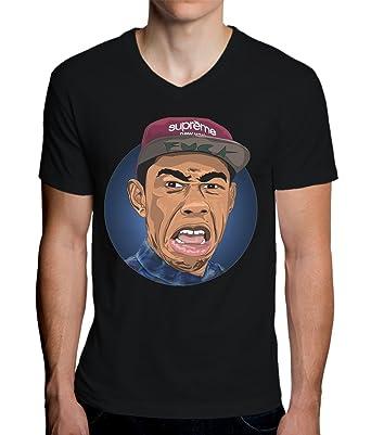 8ea76815c59b MaikesTic Tyler The Creator Artwork Men s V-Neck T-Shirt  Amazon.fr   Vêtements et accessoires