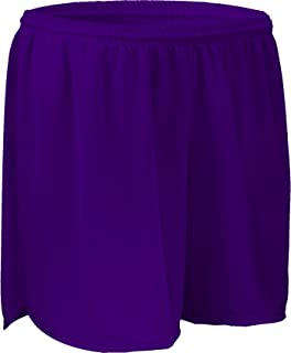 """product image for PT403W 4"""" Performance Athletic Solid Sport Running Short with Inner Brief (XX-Large, Purple)"""