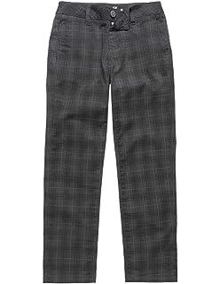 6dea3fc7b Amazon.com: RSQ London Rigid Plaid Skinny Chino Pants, Grey/black ...