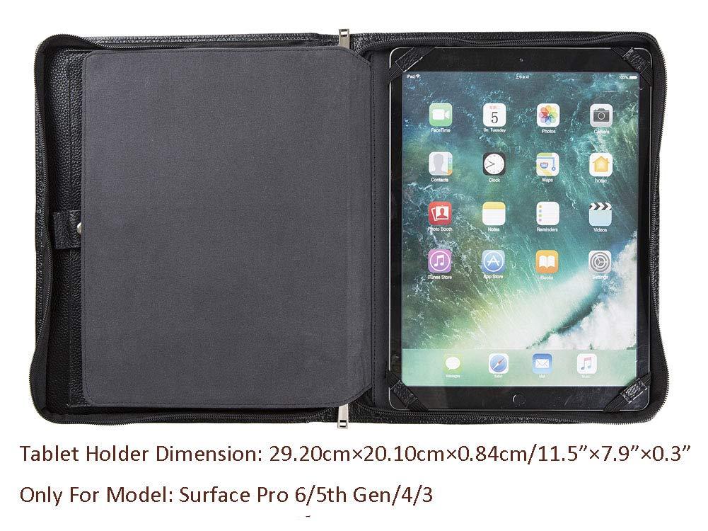 Gesch/äftsmappe //iPad Pro 9.7//iPad Air 2//iPad Air Schwarz Tablet-Tasche A4-Mappe Cohokori Handgearbeite Echtleder Konferenzmappe mit Rei/ßverschluss f/ür iPad 9.7 2018//2017 A4 Dokumentenmappe