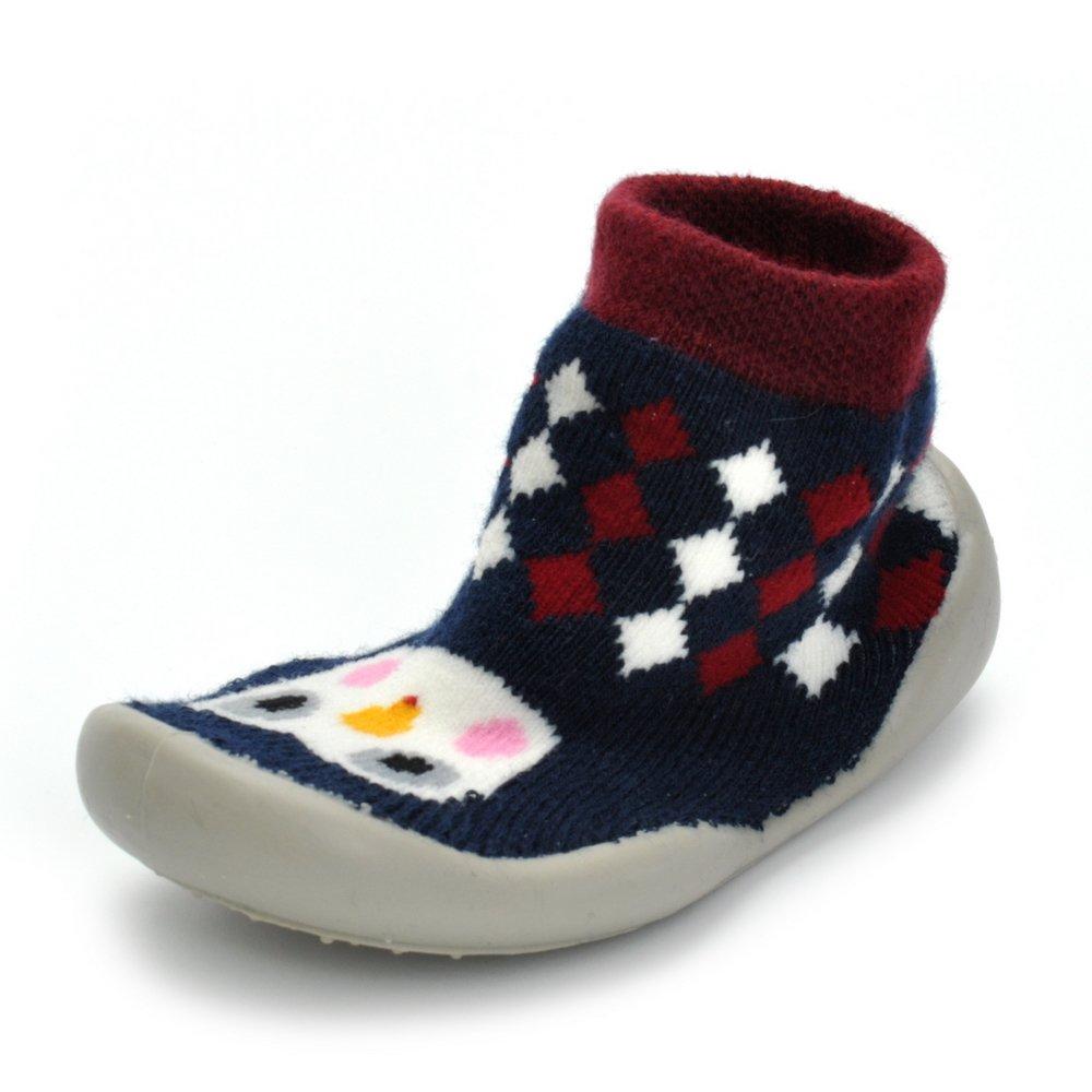 Enteer Baby Boys Girls Rubber First Walking Sock Shoes Bird US 4