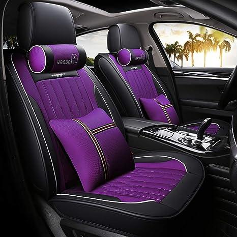 NQCT Fundas para Asientos Auto Leather + Elastic Sponge ...