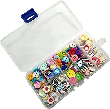Botones de Resina,Botones Costura 285 Piezas Colores y formas surtidos Botones de Manualidades en Caja de Plástico para Costura Manualidades Scrapbooking y Adornos Hechos a Mano: Amazon.es: Hogar