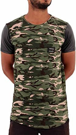 Time Is Money Jungle Star t shirts Homme Hip Hop T-shirts vert camouflage militaire