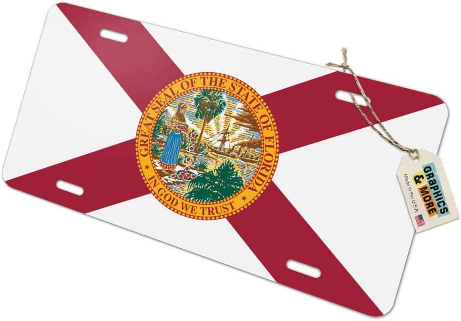 Graphics and More Florida State Flag Novelty Metal Vanity License Tag Plate